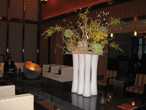Ikebana dans les lieux publics