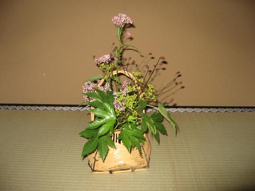 L'Ikebana dans les pavillons de thé